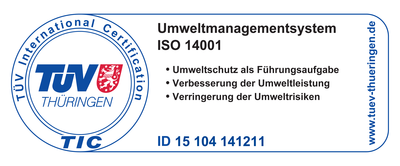 Zeitz Guss' TÜV Thuringia ISO 14001 environmental management